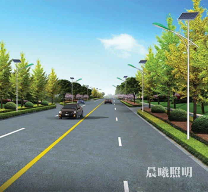 县shi道lu6米tai阳能lu灯